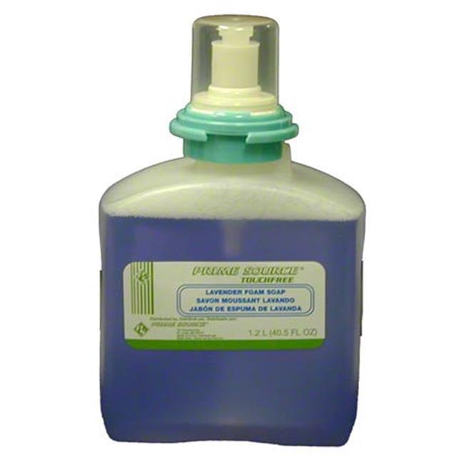 Prime Source 75004253 1200ml Polystyrene Lavender Foam Soap Touchfree Dispenser - Case of 2
