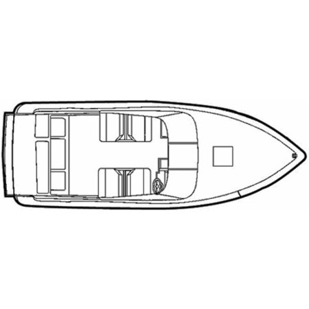Cuddy Cabin Boat Manufacturers - Carver Flex-Fit Poly-Flex Boat Cover for 19' to 22' V-Hull Low Profile Cuddy Cabin Boats I/O or O/B