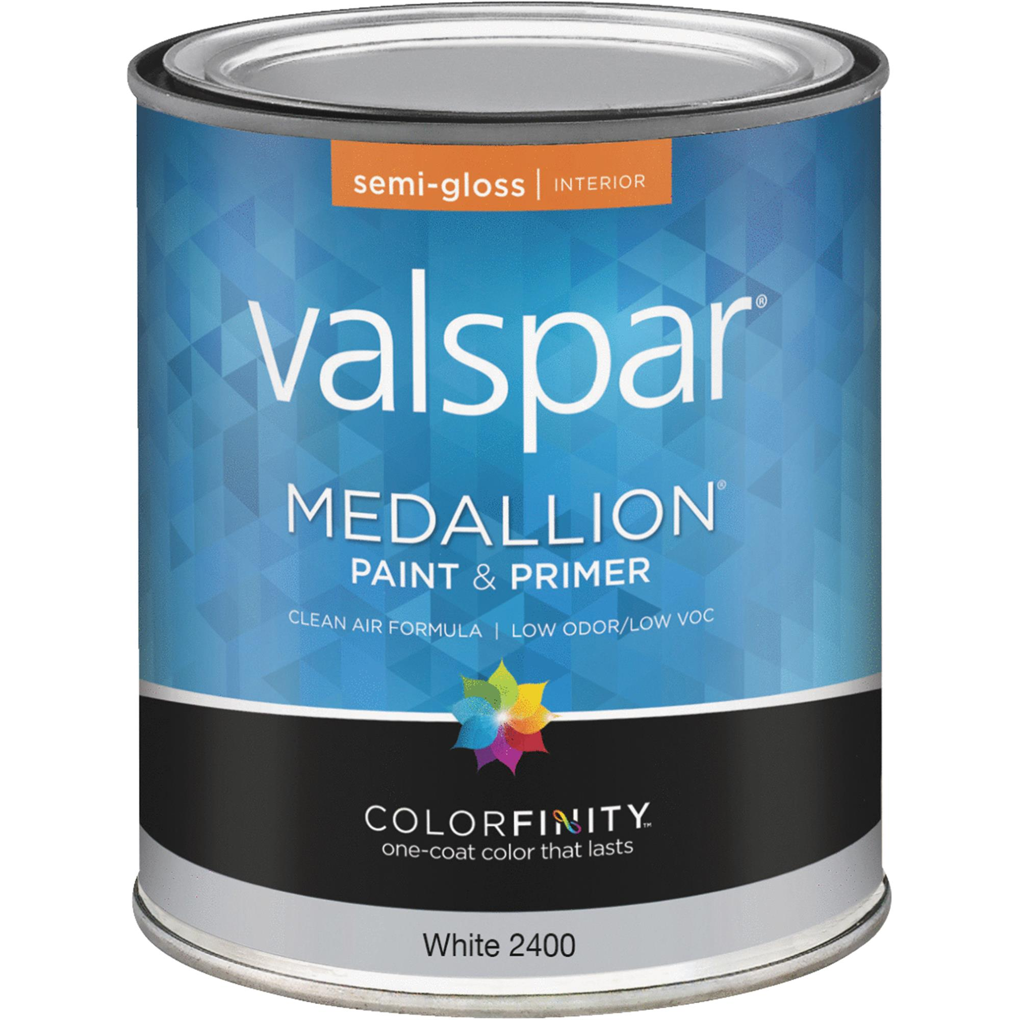 Valspar Medallion 100% Acrylic Paint & Primer Semi-Gloss Interior Wall Paint