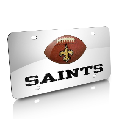 NFL New Orleans Saints Football Acrylic License Plate