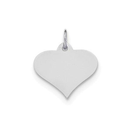 Engravable Heart Disc (14K White Gold .011 Gauge Engravable Heart Disc Charm Pendant MSRP $156 )