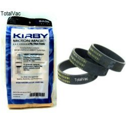 Kirby New 9 Micron Vacuum Cleaner Bags G3 G4 G5 With Belts (Vacuum Bags Kirby G4)