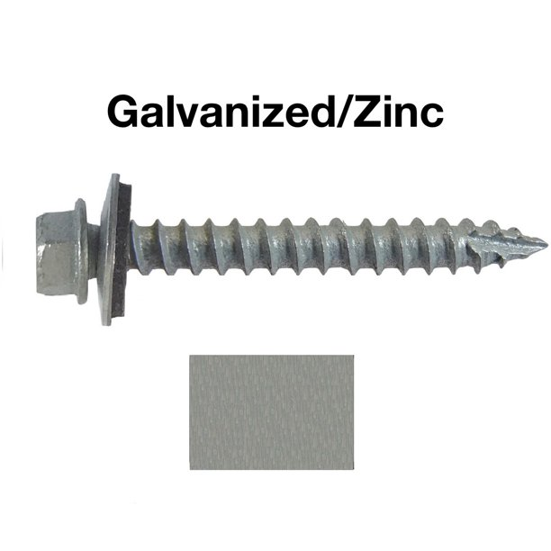 Metal Roofing Screws 250 10 X 1 1 2 Galvanized Hex Head Sheet Metal Roof Screw Self Starting Metal To Wood Siding Screws Epdm Washer No Paint Walmart Com Walmart Com