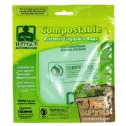 "Tuff Guy Kitchen Organic Waste Bags White 16.3"" x 16.6"" 6Pcs/Pack"