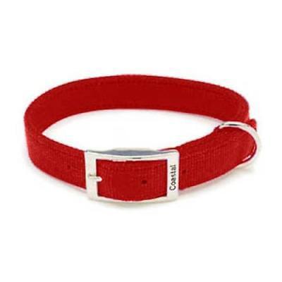 Double Ply Nylon Collar (Coastal Pet Products Double Ply Red Nylon Collar, 26