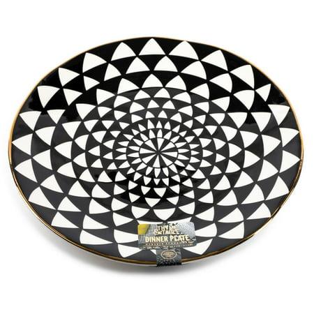 Thyme & Table Dinner Medallion, Black and White