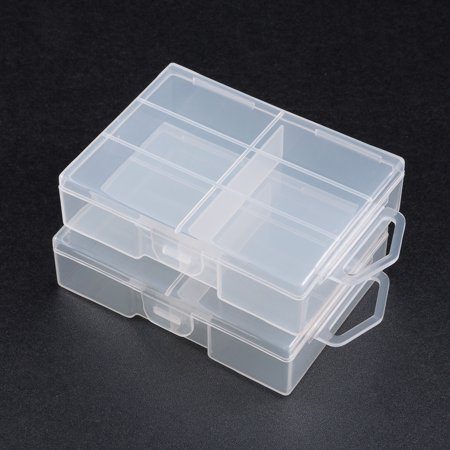 Unique Bargains 2 Pcs Clear Plastic Case Holder Storage Box Container for 24 x AAA Battey - image 2 of 4