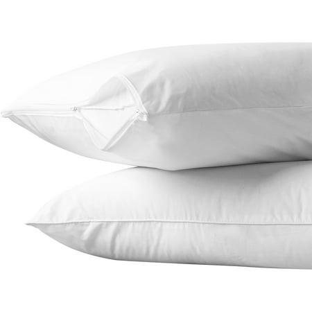 AllerEase Cotton Allergy Protection Pillow Protector, 2pk (Cotton Pillow Protector)