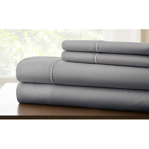 amrapur overseas inc kensington hotel microfiber sheet set - Cal King Sheets