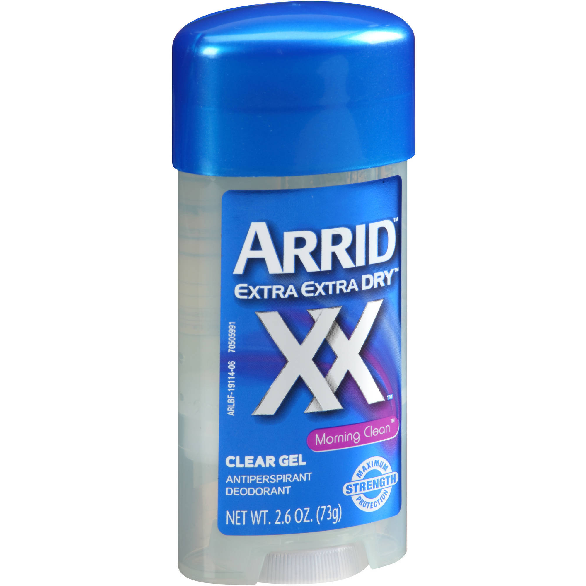 Arrid XX Extra Extra Dry Morning Clean Clear Gel Antiperspirant Deodorant, 2.6 oz
