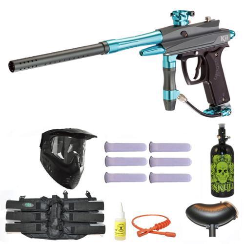 Azodin Kaos-D II Paintball Marker Gun 3Skull N2 Mega Set by