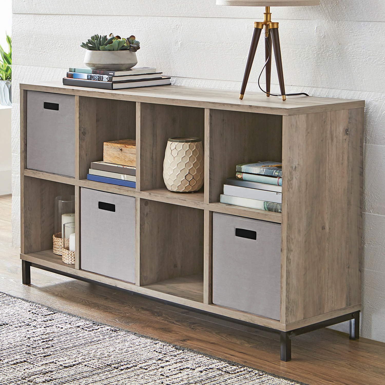 8 Cubby Cube Storage Organizer Bookcase Bookshelf Square Side Display  Organizer