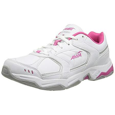 Avia Womens Avi Tangent Faux Leather Lightweight Running, Cross Training (Best Shoes For Weight Training)