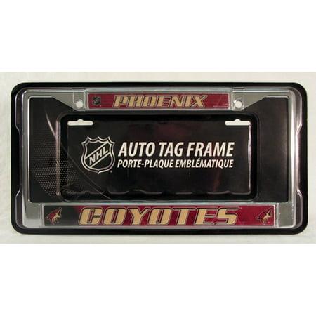 Phoenix Coyotes Vintage Nhl Chrome Metal License Plate