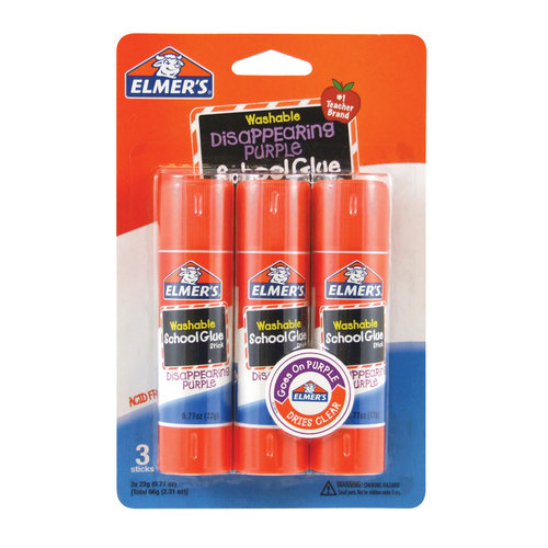 Elmer's Large School Glue Stick, 22g, 3pk