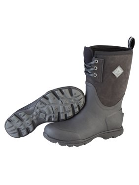 0c26f60aa Product Image Muck Boot Men's 12'' Arctic Excursion Mid Lace Snow Boots  Black Leather ...