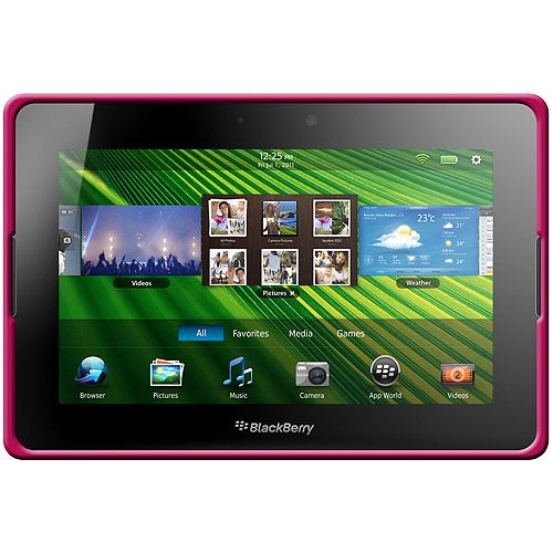 BlackBerry PlayBook Case, Rugged Silicone Skin Jelly Slim Protective Heavy Duty Shockproof Case for BlackBerry PlayBook - Hot Pink