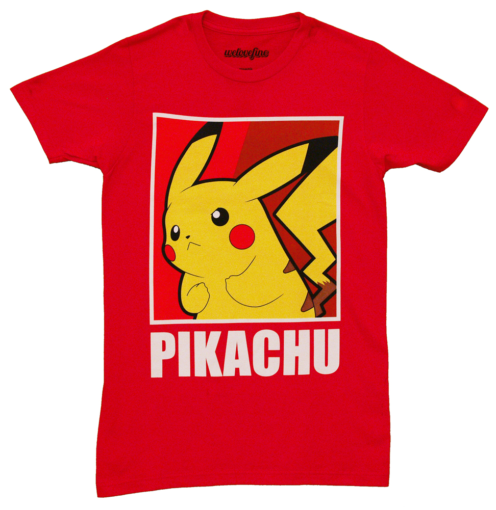 Pikachu Color Box Pokemon Mighty Fine Adult T-Shirt Tee