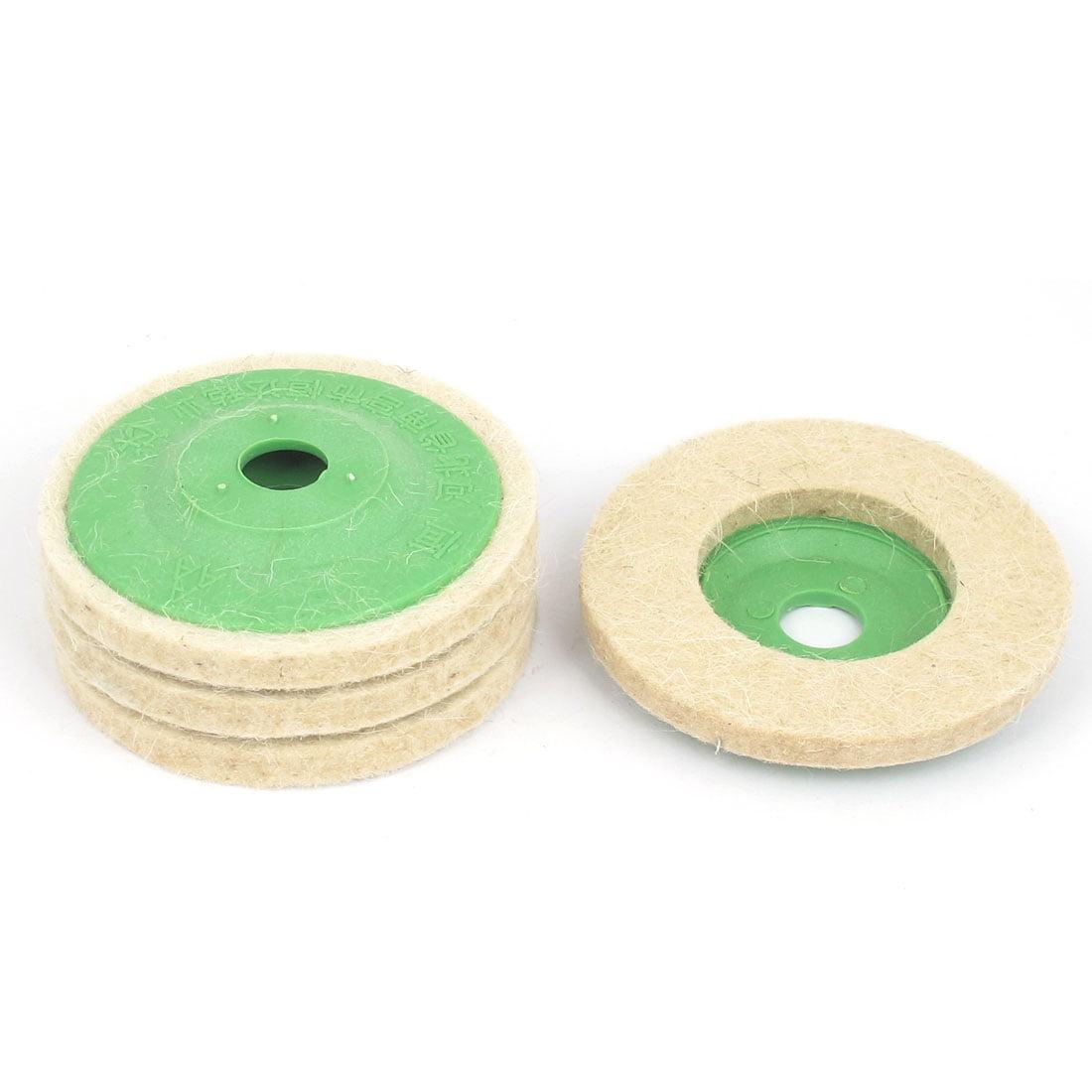 Unique Bargains 95mm Outer Dia Wool Tools Felt Polishing Wheel Buffing Discs Pads Beige 4pcs