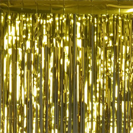 Metallic Foil Curtain (BalsaCircle 3 feet x 8 feet Metallic Foil Fringe Shiny Curtain - 5)