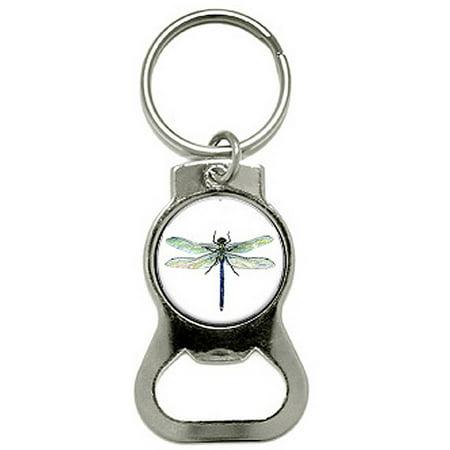 dragonfly bottle cap opener keychain ring. Black Bedroom Furniture Sets. Home Design Ideas