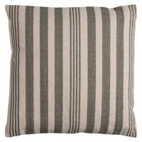 """Rizzy Home Decorative Poly Filled Throw Pillow Stripe 24""""X24"""" Gray"""