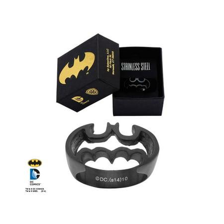 DC Comics Batman Logo Cutout Ring Size 9