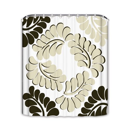 Popeven Fashion Leave Shower Curtain For Bathroom Extra Long Extra Wide Sho