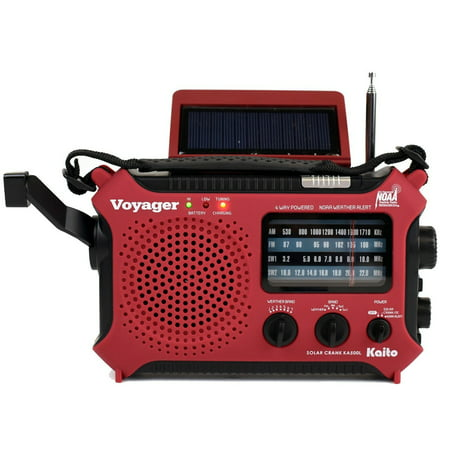 Katio KA500L AM FM Shortwave Dynamo Solar Crank Emergency Weather Radio -