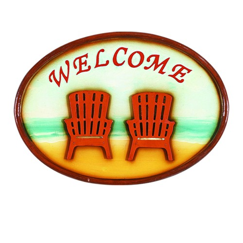 RAM Game Room Outdoor Wall Decor - Welcome Sign