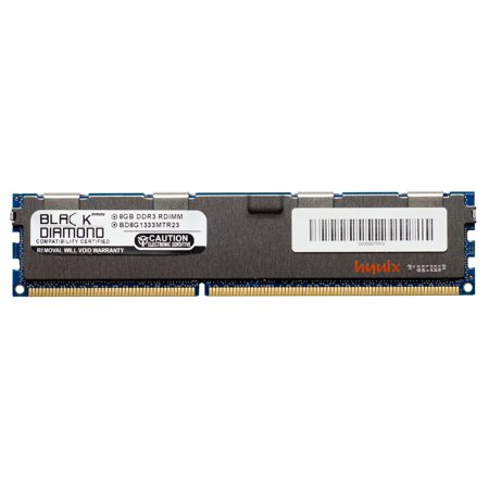 8GB RAM Memory for Asus RS Series RS720-E6/RS12 240pin PC3-10600 DDR3 RDIMM 1333MHz Black Diamond Memory Module Upgrade ()