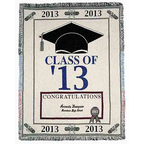 Personalized Graduation Throw, Available in 2 Styles