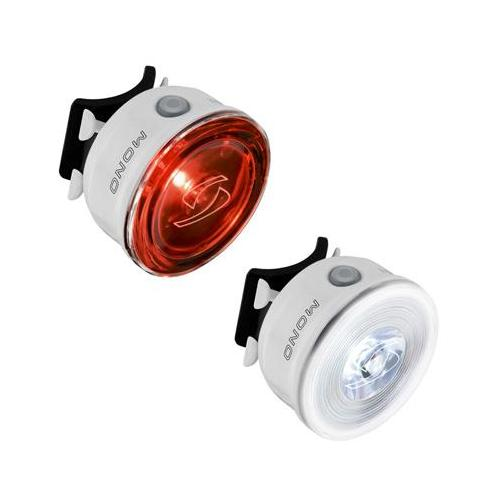 Sigma Mono FL/Mono RL USB Rechargeable Bicycle Headlight/Tail Light Set (White)