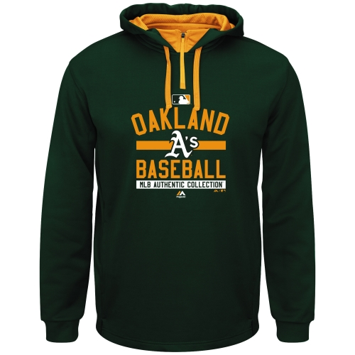 Oakland Athletics Majestic Big & Tall A/C On-Field Team Property Hoodie - Green