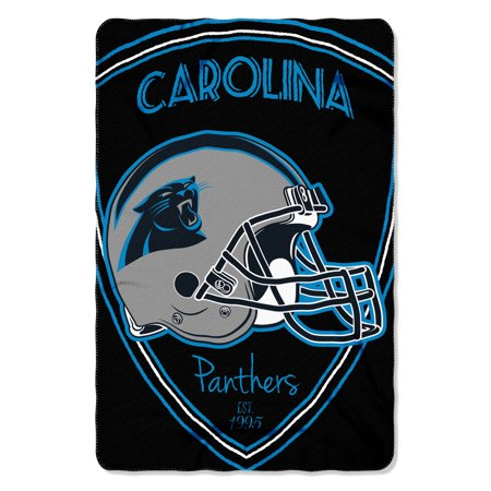 "NFL - Carolina Panthers , ""Shield"" 40""x 60"" Fleece Throw"