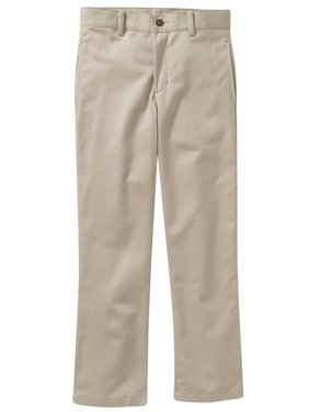 George Boys School Uniform Flat Front Twill Pant With Scotchguard (Little Boys & Big Boys)