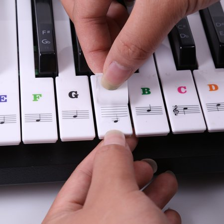 Piano Laminated Sticker Keyboard Set Educational Toys - image 3 de 7