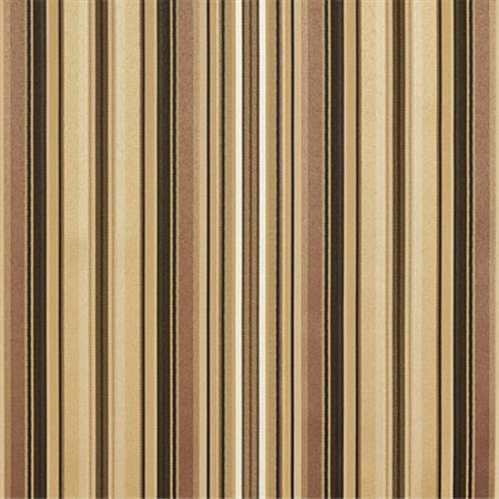 Designer Fabrics U0160B 54 in. Wide Brown, Gold Silver Shiny Thin Striped Silk Satin Upholstery