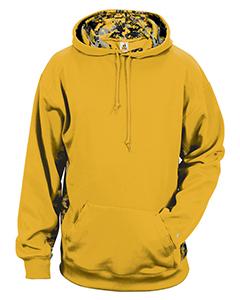 Badger Digital Camo Colorblock Performance Fleece Hooded Sweatshirt