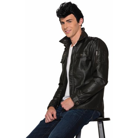 Black 50's Greaser Adult Halloween Costume Accessory Wig (Greasers Costumes)