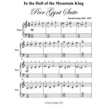 Hall Piano Music (In the Hall of the Mountain King Peer Gynt Suite - Easiest Piano Sheet Music - eBook )