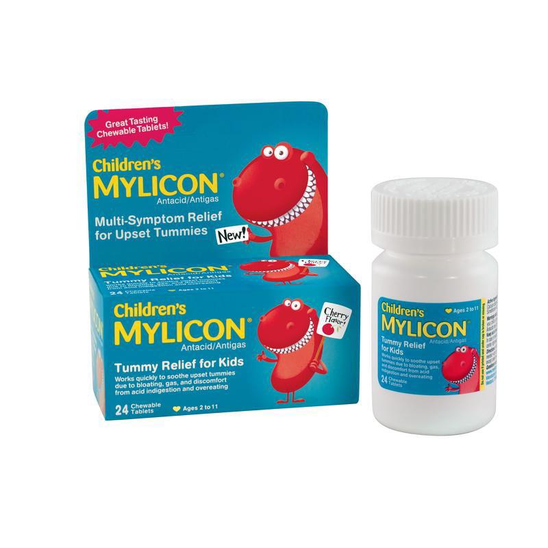 Children's Mylicon Tummy Relief for Kids, Cherry Flavor, 24ct