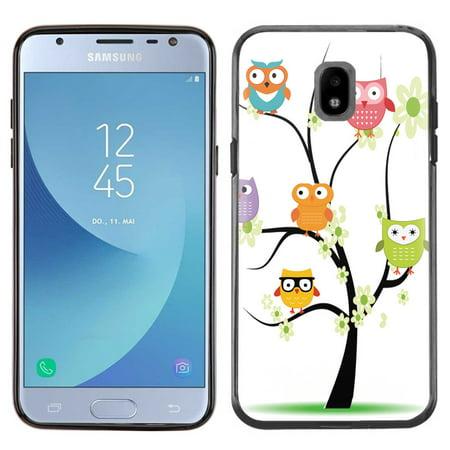 - Slim-Fit Case for Samsung Galaxy J3 Orbit, OneToughShield ® TPU (Black Bezel) Protective Phone Case - Tree Owl
