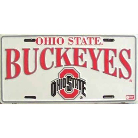 Ohio State University Buckeyes Collegiate Embossed Metal Novelty License Plate Tag Sign