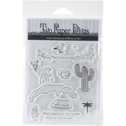 """Two Paper Divas Clear Stamps 7""""X4.5""""-On The Road Again Accessories"""