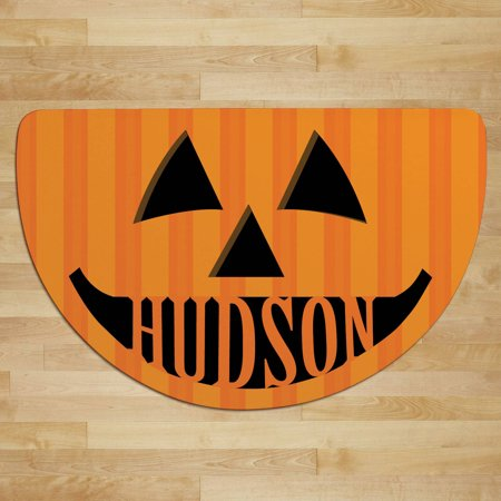 Personalized Halloween Characters Half Round Doormat (Halloween Math)