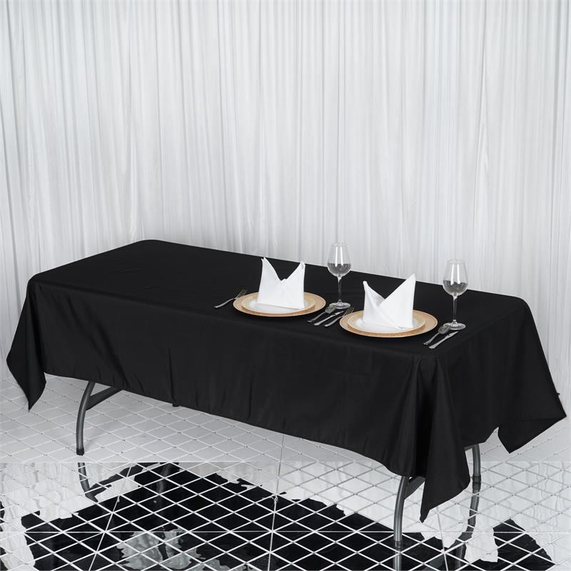"BalsaCircle 60x102"" Premium Polyester Rectangular Tablecloth Table Linens by BalsaCircle"