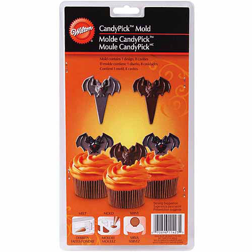 Wilton 8-Cavity Candy Mold, Bat 2115-1423