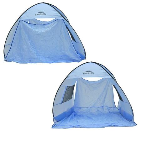 Instant Pop-up Family Beach Tent Cabana Shade and Sun Shelter UPF 55+