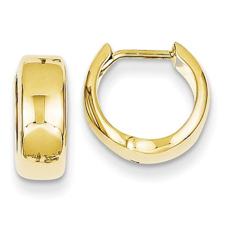 14k Gold Rope Hoop Earrings (14kt Yellow Gold Hinged Hoop)